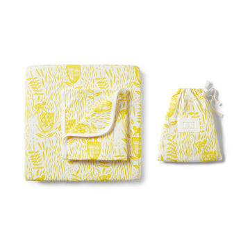 MELLOW YELLOW COT SET-COT SHEET SET-Wilson and Frenchy