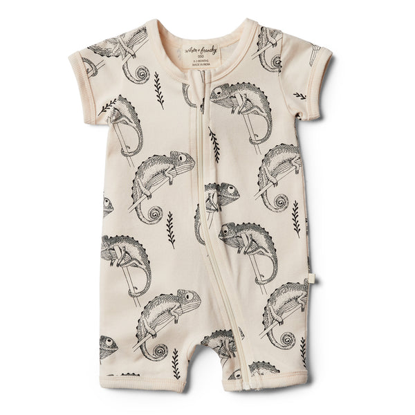 Organic Little Chameleon Boyleg Zipsuit - Wilson and Frenchy