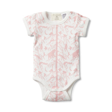 PINK ADVENTURE AWAITS SHORT SLEEVE BODYSUIT-BODYSUIT-Wilson and Frenchy