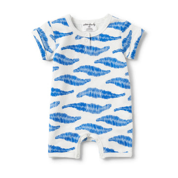 JUNGLE LEAF PLACKET DETAIL BOYLEG GROWSUIT - Wilson and Frenchy