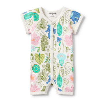FLORA SHORT SLEEVE OPEN FRONT GROWSUIT-GROWSUIT-Wilson and Frenchy