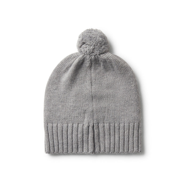 LUXE CABLE KNIT HAT WITH POM POM - Wilson and Frenchy