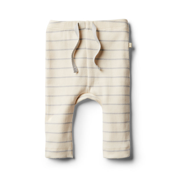 Organic Glacier Grey Stripe Legging - Wilson and Frenchy