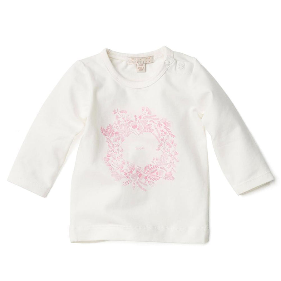 LONG SLEEVE TOP WITH LOVE PRINT - Wilson and Frenchy