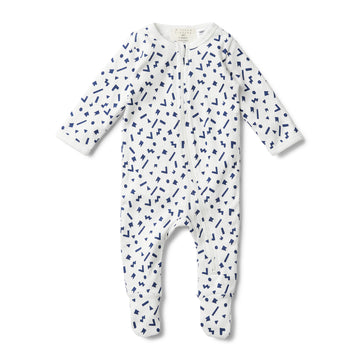 GEO PLAY LONG SLEEVE ZIPSUIT - Wilson and Frenchy