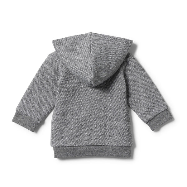 DARK GREY HOODED JACKET WITH ZIP - Wilson and Frenchy
