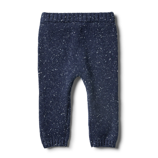 Twilight Blue Knitted Legging - Wilson and Frenchy