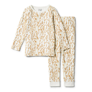 ORGANIC LITTLE VINE LONG SLEEVE PYJAMA SET