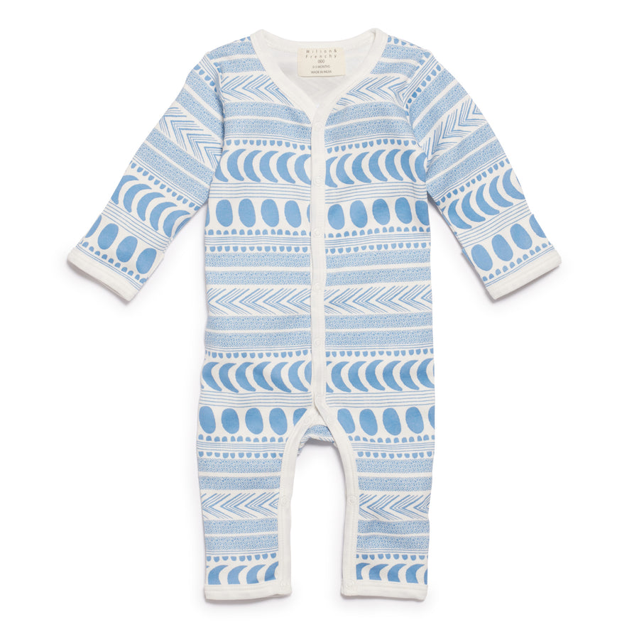 MOON AZTEC LONG SLEEVE GROWSUIT-GROWSUIT-Wilson and Frenchy