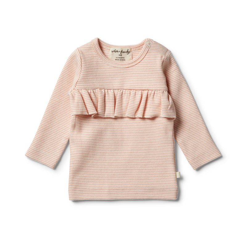 Organic Desert Flower Ruffle Top - Wilson and Frenchy