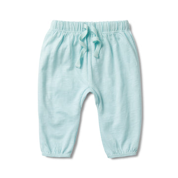 SKY BLUE FLECK SLOUCH PANT - Wilson and Frenchy