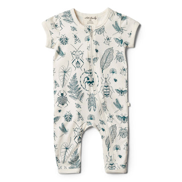 Organic Creepy Crawly Zipsuit - Wilson and Frenchy