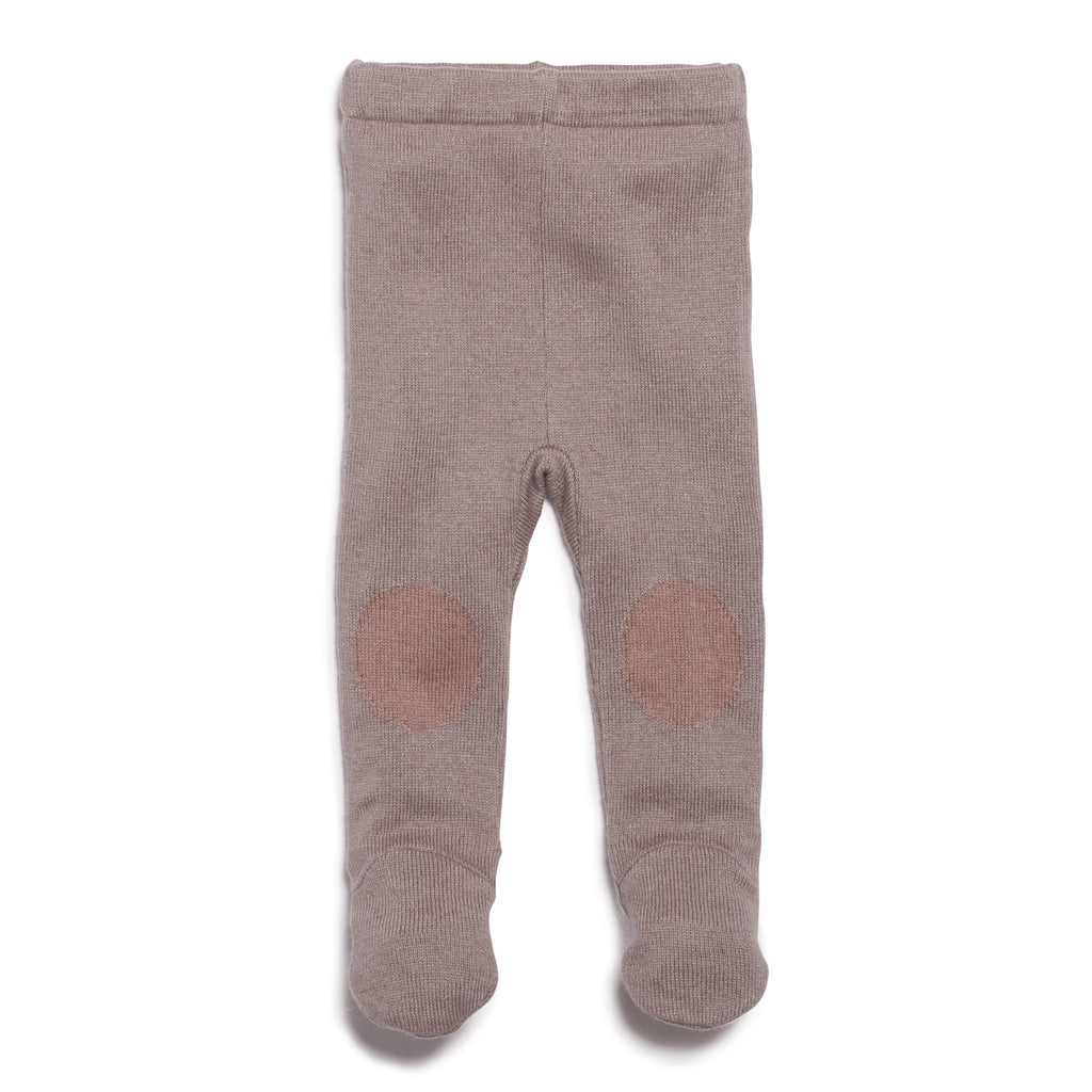 SMOKE GREY KNITTED LEGGING WITH FEET