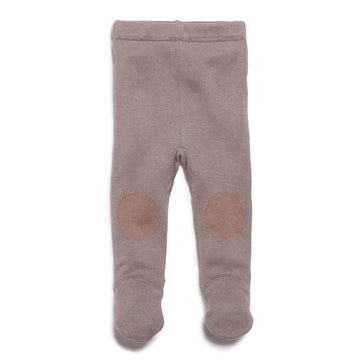 SMOKE GREY KNITTED LEGGING WITH FEET - Wilson and Frenchy