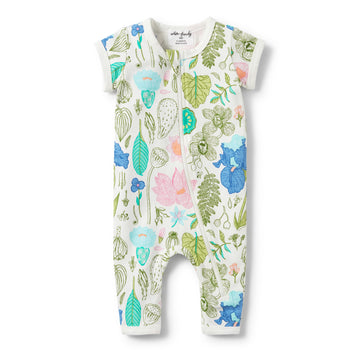 FLORA SHORT SLEEVE ZIPSUIT-ZIPSUIT-Wilson and Frenchy