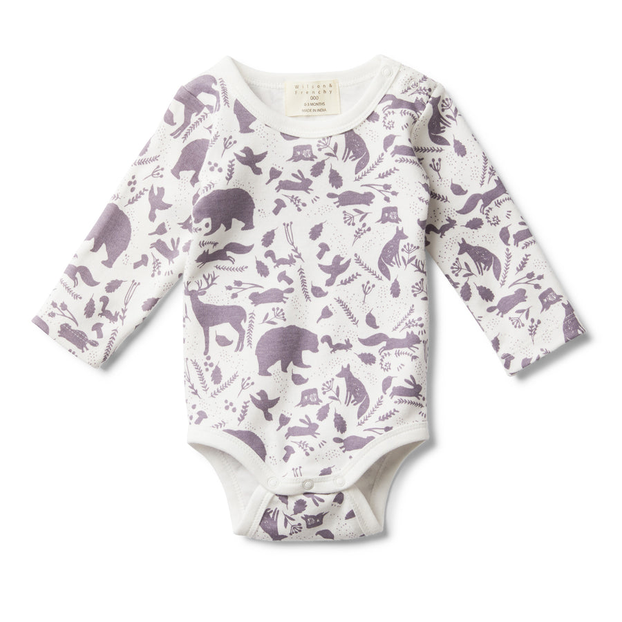 GIRLS WILD WOODS LONG SLEEVE BODYSUIT-BODYSUIT-Wilson and Frenchy