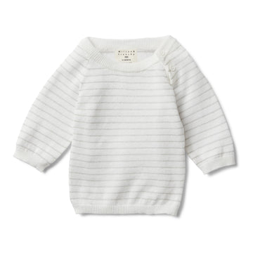 SILVER STRIPE KNITTED JUMPER-Wilson and Frenchy