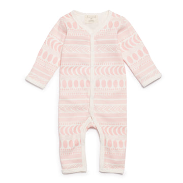 PINK MOON AZTEC LONG SLEEVE GROWSUIT-Wilson and Frenchy