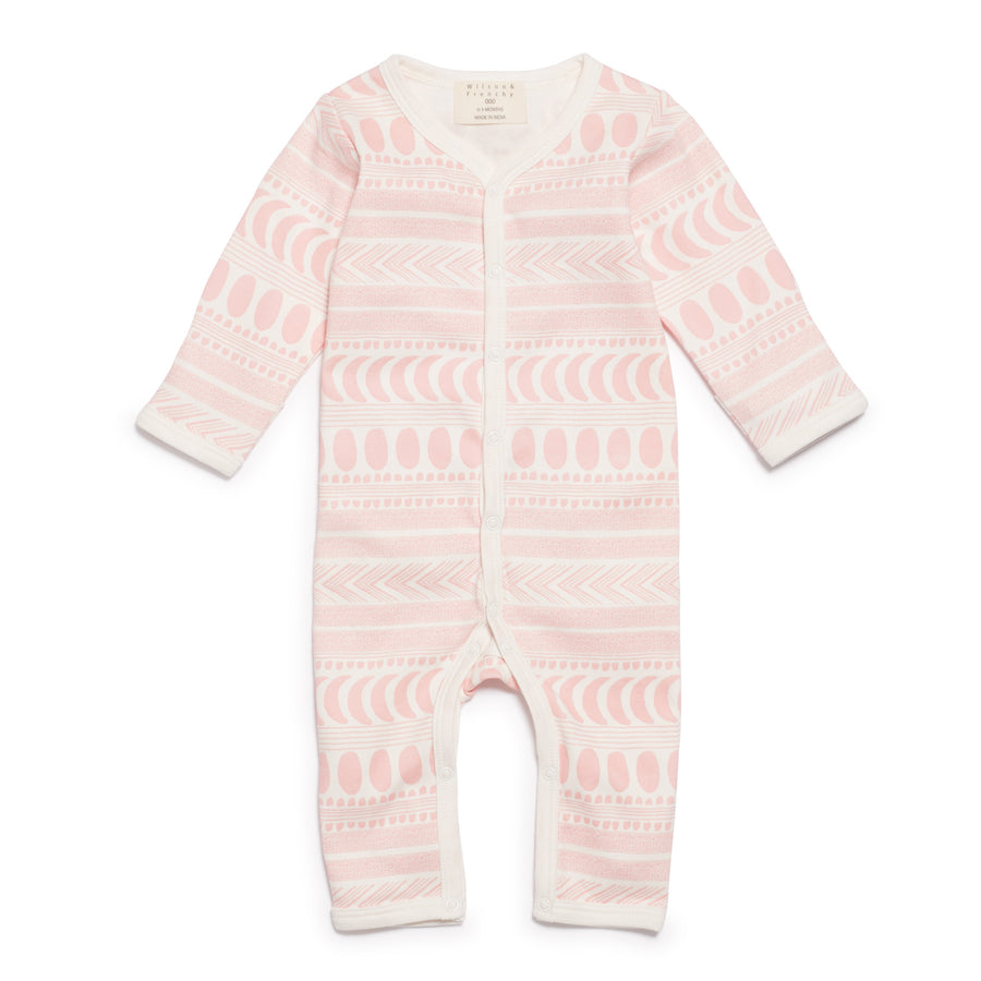 PINK MOON AZTEC LONG SLEEVE GROWSUIT-GROWSUIT-Wilson and Frenchy