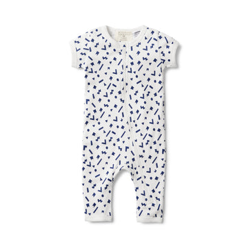 GEO PLAY SHORT SLEEVE ZIPSUIT - Wilson and Frenchy