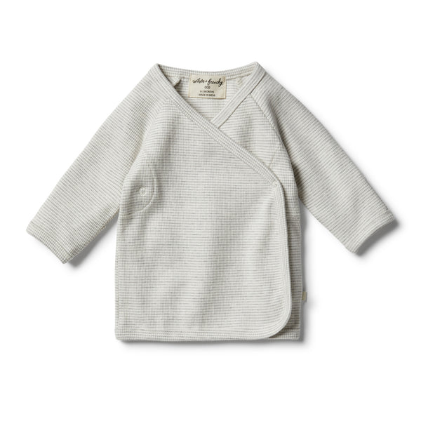 Organic Cloud Grey Kimono Top - Wilson and Frenchy