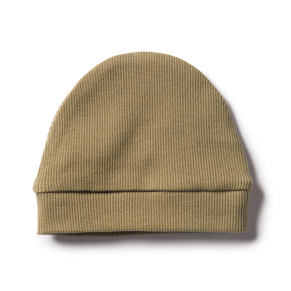 DUSTY OLIVE RIB BEANIE - Wilson and Frenchy