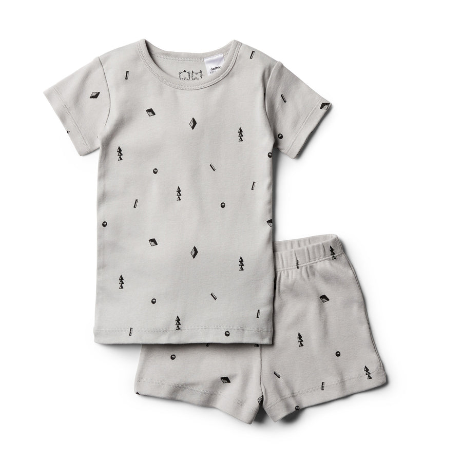 Organic Moonstone Short Sleeve Pyjama Set - Wilson and Frenchy