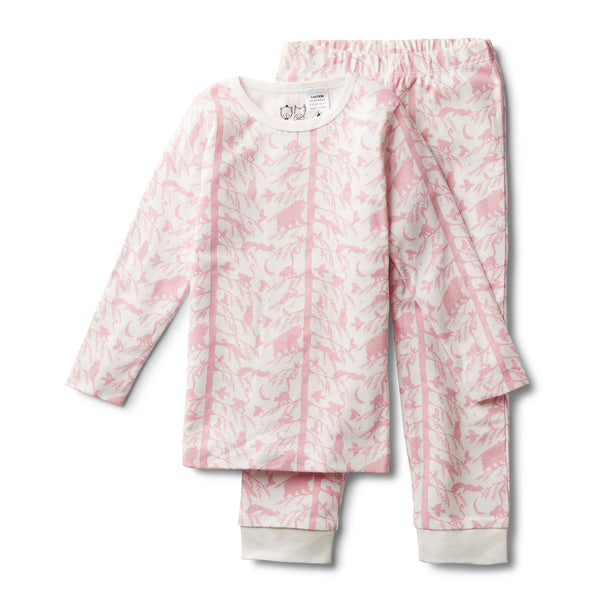 PINK ADVENTURE AWAITS PYJAMA SET