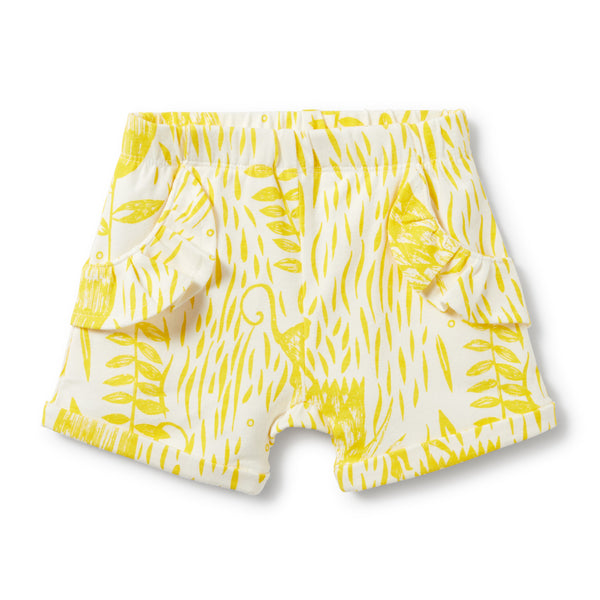 MELLOW YELLOW RUFFLE POCKET SHORTS - Wilson and Frenchy