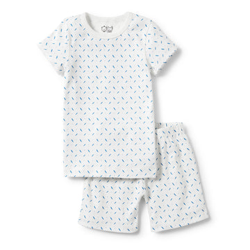 DROPLET SHORT SLEEVE PYJAMA SET-KIDS SLEEPWEAR-Wilson and Frenchy