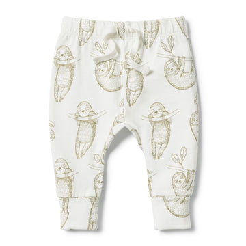 ORGANIC BABY SLOTH LEGGING - Wilson and Frenchy