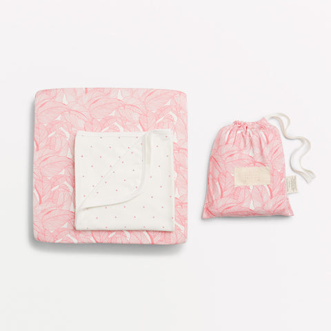 PINK INTO THE JUNGLE BASSINET SHEET SET - Wilson and Frenchy