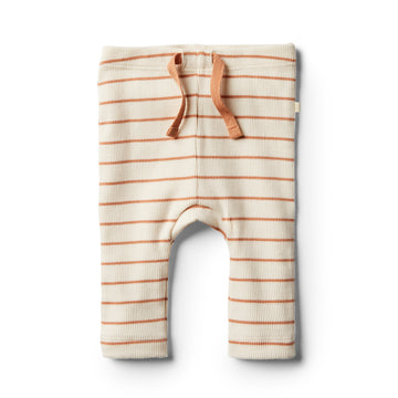 Organic Toasted Nut Stripe Legging - Wilson and Frenchy