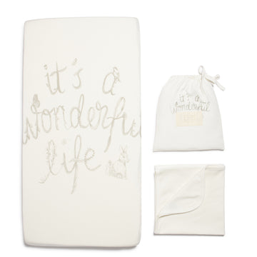 IT'S A WONDERFUL LIFE BASSINET SHEET SET-BASSINET SHEET SET-Wilson and Frenchy