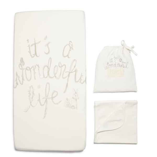 WONDERFUL LIFE BASSINET SHEET SET