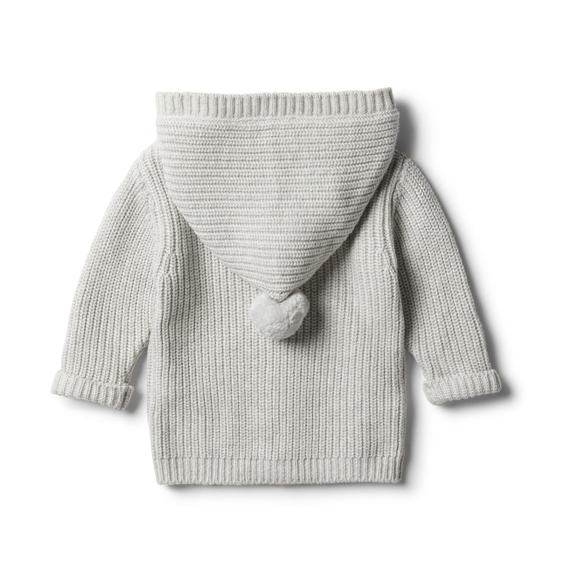 Cloud Grey Rib Knitted Jacket - Wilson and Frenchy