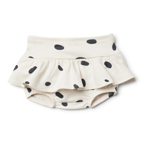 Organic Speckled Spots Nappy Pant with Ruffle - Wilson and Frenchy
