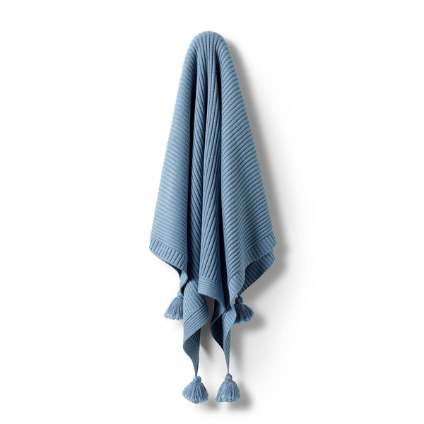 Faded Denim Rib Blanket - Wilson and Frenchy