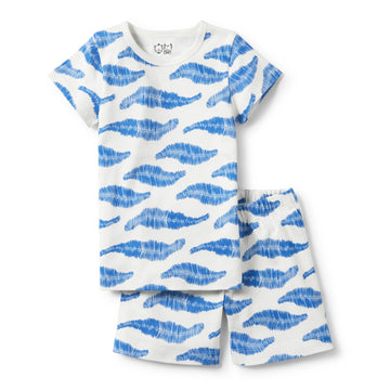 JUNGLE LEAF SHORT SLEEVE PYJAMA SET - Wilson and Frenchy
