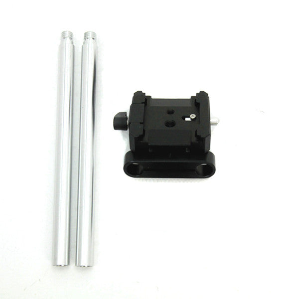 "QB-15 Base Mount Only with 8"" 15mm extension rods for QV-1 QV-1 M"