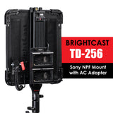 BrightCast TD-256 Video LED Lights with AC Adapter
