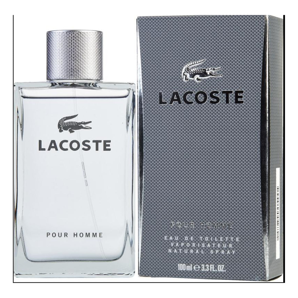 Lacoste Grey Box Pour Homme Eau de Toilette for Men 3.3 oz.