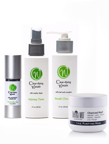Complete Wasabi Anti Acne Skincare Collection