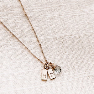 SINGLE MINI TAG NECKLACE