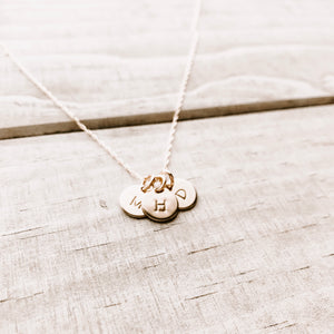 TRES MINI COIN NECKLACE