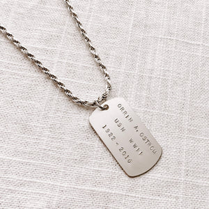 MEN'S GRANDE DOG TAG NECKLACE
