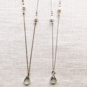 AQUA DROP NECKLACE