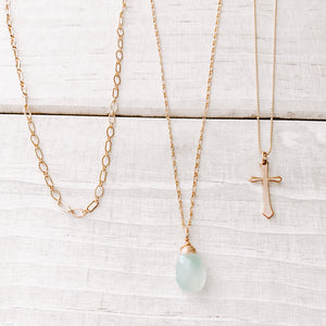 BLUE ABYSS GEM NECKLACE