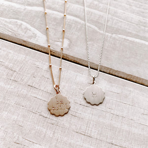 SCALLOPED CHARM NECKLACE