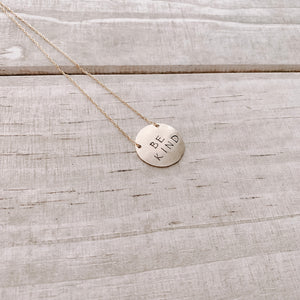 BE KIND COIN NECKLACE